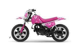 Yamaha PW50 Dirt Bike Graphic Kit - 1990-2018 Butterfly Pink