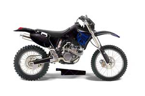 Yamaha WR250 Dirt Bike Graphic Kit - 1998-2002 Silver Star - Reloaded Blue