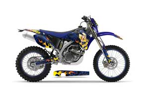 Yamaha WR250F Dirt Bike Graphic Kit - 2007-2014 Motorhead Mandy Blue