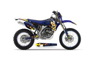 Yamaha WR450F Dirt Bike Graphic Kit - 2007-2011 Motorhead Mandy Blue