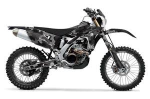Yamaha WR450F Dirt Bike Graphic Kit - 2007-2011 Camoplate Black