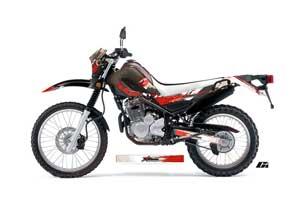 Yamaha XT250X Dirt Bike Graphic Kit - 2006-2018 Carbon X Red