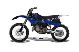 Yamaha YZ250 2 Stroke Dirt Bike Graphic Kit - 1993-1995 Carbon X Blue