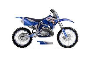 Yamaha YZ125 2 Stroke Dirt Bike Graphic Kit - 1996-2001 T Bomber Blue