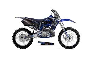 Yamaha YZ125 2 Stroke Dirt Bike Graphic Kit - 1996-2001 Toxicity Blue