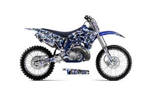 Yamaha YZ125 2 Stroke Dirt Bike Graphic Kit - 1996-2001 Urban Camo Blue