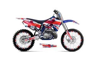 Yamaha YZ125 2 Stroke Dirt Bike Graphic Kit - 1996-2001 Union Jack