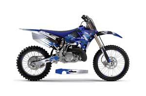 Yamaha YZ250 Dirt Bike Graphic Kit - 2002-2014 Carbon X Blue