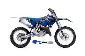 Yamaha YZ250 Dirt Bike Graphic Kit - 2015-2018 Carbon X Blue