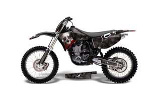 Yamaha YZ400 4 Stroke Dirt Bike Graphic Kit - 1998-2002 Bone Collector Black