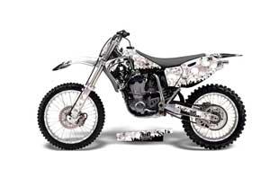 Yamaha YZ426 F 4 Stroke Dirt Bike Graphic Kit - 1998-2002 Reaper White