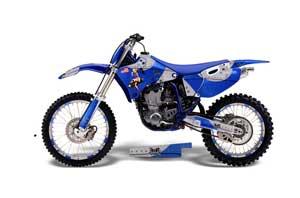 Yamaha YZ250 4 Stroke Dirt Bike Graphic Kit - 1998-2002 T Bomber Blue