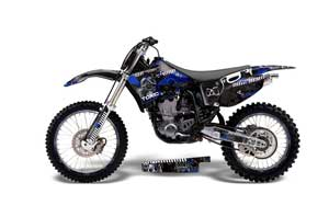 Yamaha YZ250 4 Stroke Dirt Bike Graphic Kit - 1998-2002 Toxicity Blue