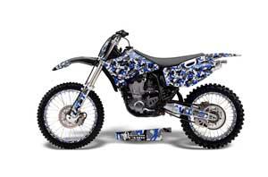 Yamaha YZ250 4 Stroke Dirt Bike Graphic Kit - 1998-2002 Urban Camo Blue