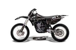 Yamaha YZ426 F 4 Stroke Dirt Bike Graphic Kit - 1998-2002 Reaper Black