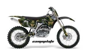 Yamaha YZ250F / YZ450F Dirt Bike Graphic Kit - 2006-2009 Camoplate Green