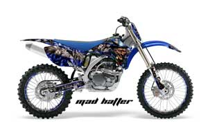 Yamaha YZ250F / YZ450F Dirt Bike Graphic Kit - 2006-2009 Mad Hatter Blue