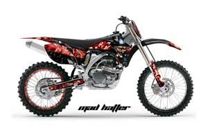 Yamaha YZ250F / YZ450F Dirt Bike Graphic Kit - 2006-2009 Mad Hatter Black