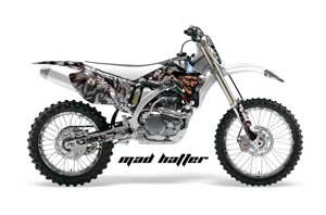 Yamaha YZ250F / YZ450F Dirt Bike Graphic Kit - 2006-2009 Mad Hatter Silver