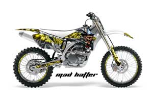 Yamaha YZ250F / YZ450F Dirt Bike Graphic Kit - 2006-2009 Mad Hatter Yellow