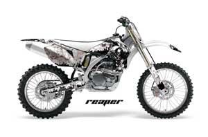 Yamaha YZ250F / YZ450F Dirt Bike Graphic Kit - 2006-2009 Reaper White