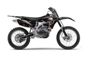 Yamaha YZ250 F 4 Stroke Dirt Bike Graphic Kit - 2010-2013 Bone Collector Black