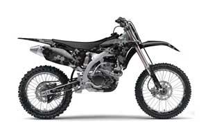 Yamaha YZ250 F 4 Stroke Dirt Bike Graphic Kit - 2010-2013 Camo Plate Black
