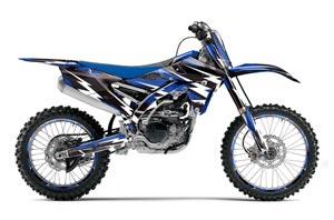Yamaha YZ250 F Dirt Bike Graphic Kit - 2014-2017 Attack Blue