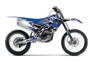 Yamaha YZ250 F Dirt Bike Graphic Kit - 2014-2017 Carbon X Blue