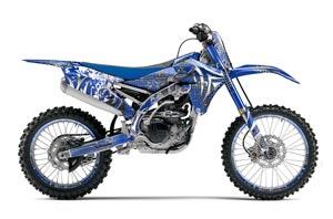 Yamaha YZ250 F Dirt Bike Graphic Kit - 2014-2017 Deaden Blue