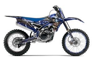 Yamaha YZ450 F Dirt Bike Graphic Kit - 2014-2017 Mad Hatter Blue