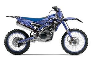 Yamaha YZ450 F Dirt Bike Graphic Kit - 2014-2017 Reaper Blue