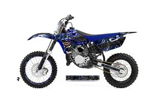 Yamaha YZ85 Dirt Bike Graphic Kit - 2015-2018 Mad Hatter Blue