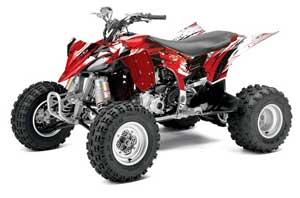 Yamaha YFZ 450R / SE ATV Graphic Kit - 2014-2019 Carbon X Red
