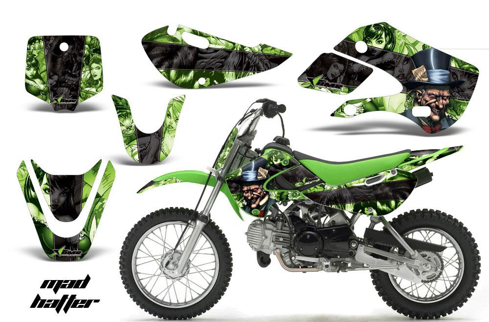 Suzuki Drz 110 Dirt Bike Graphics Mad Hatter Black Green Mx