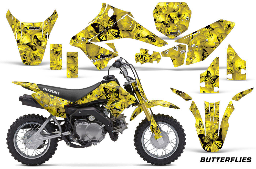 Suzuki Drz Graphics Kit Yellow Camo