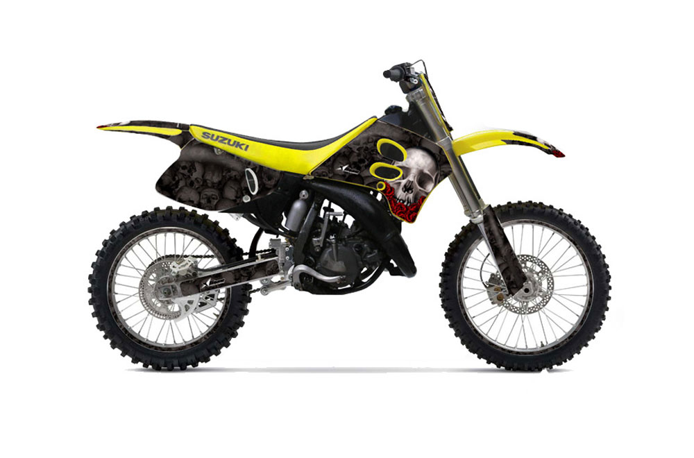 suzuki rm 125 dirt bike graphics  bone collector