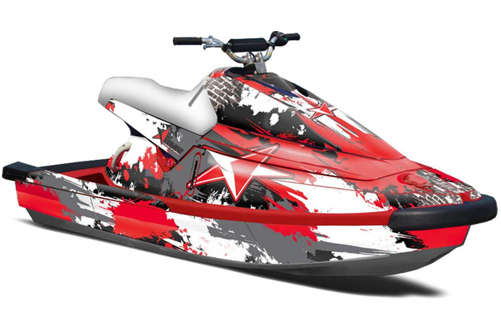 yamaha wave blaster graphics street star red jet ski pwc graphic decal wrap kit jet ski. Black Bedroom Furniture Sets. Home Design Ideas