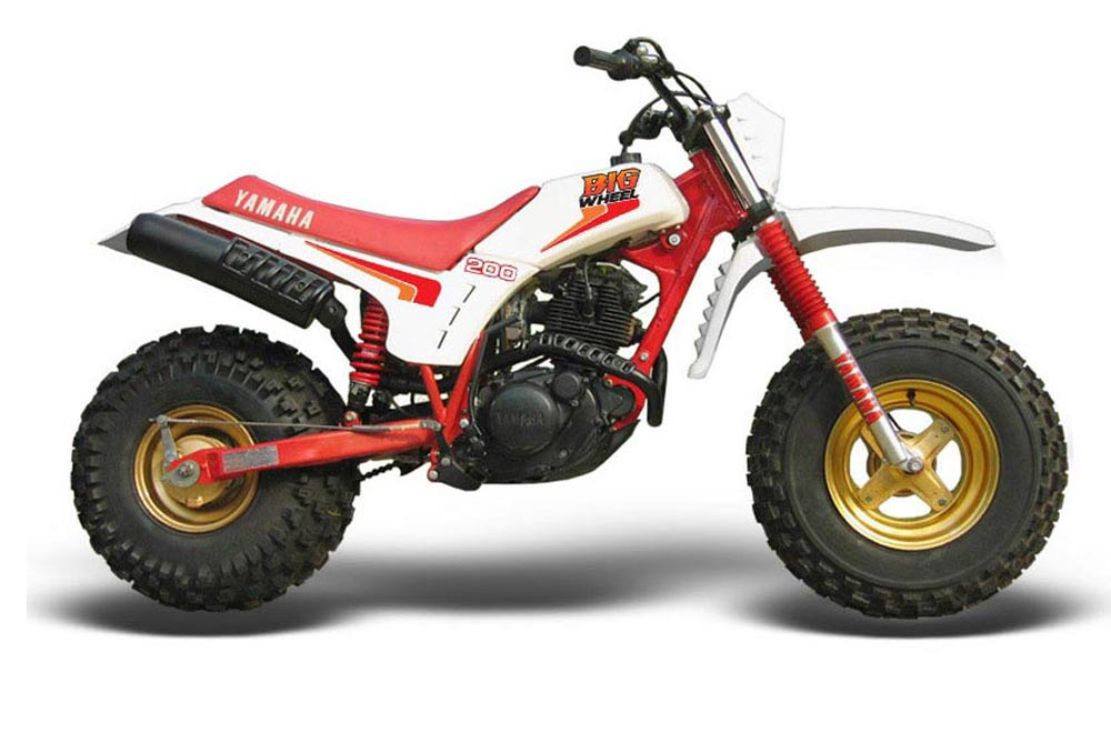 Yamaha BW200 OEM Dirt Bike Graphic Kit - 1986 Big Wheel Red