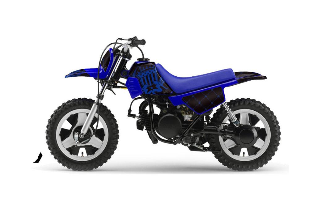 Yamaha PW50 Dirt Bike Graphic Kit - 1990-2018 Silver Star - Reloaded Black