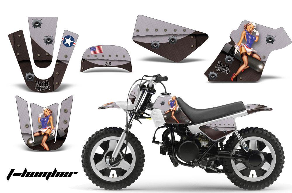 Yamaha PW50 Dirt Bike Graphic Kit - 1990-2018 T Bomber Black