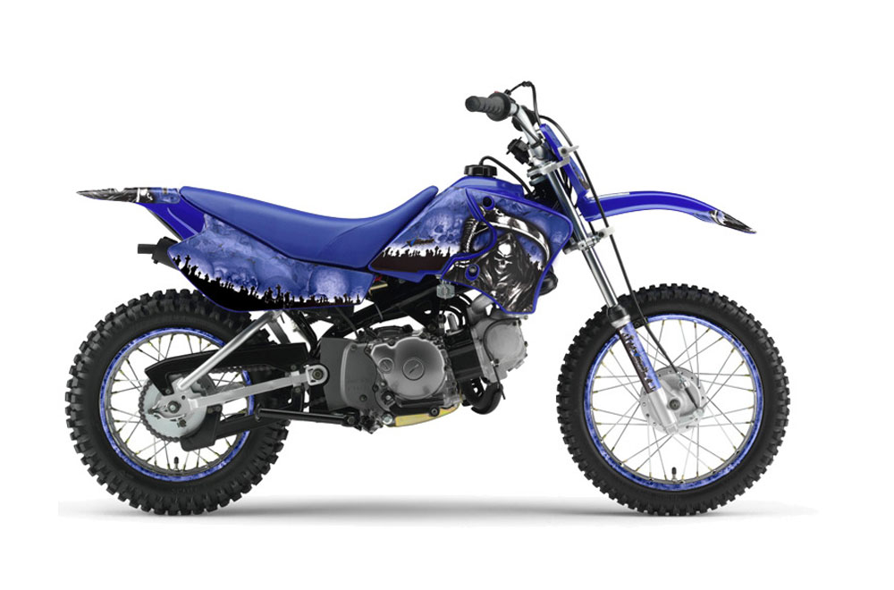 yamaha ttr50 dirt bike graphics reaper blue mx graphic