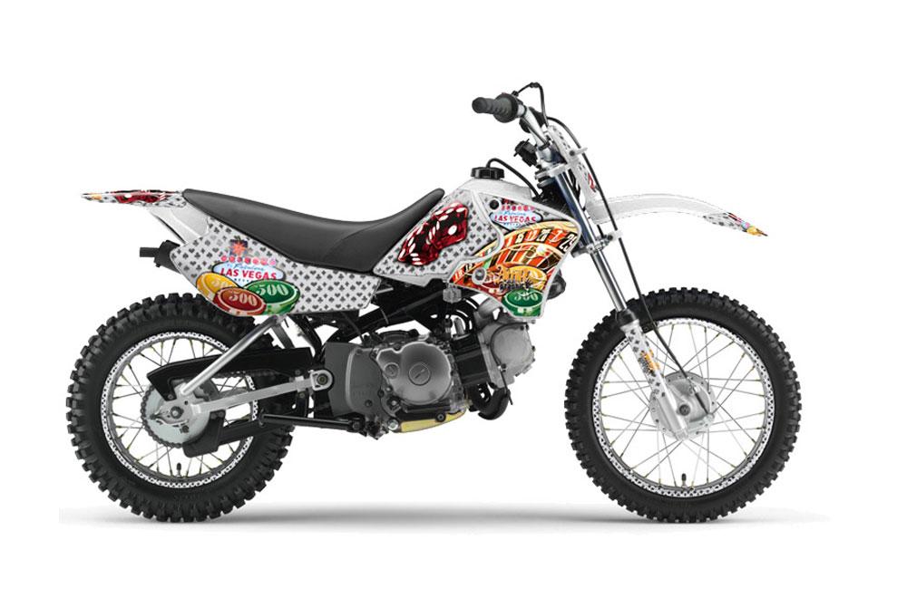 Yamaha TTR50 Dirt Bike Graphic Kit - 2006-2018 Vegas Baller White