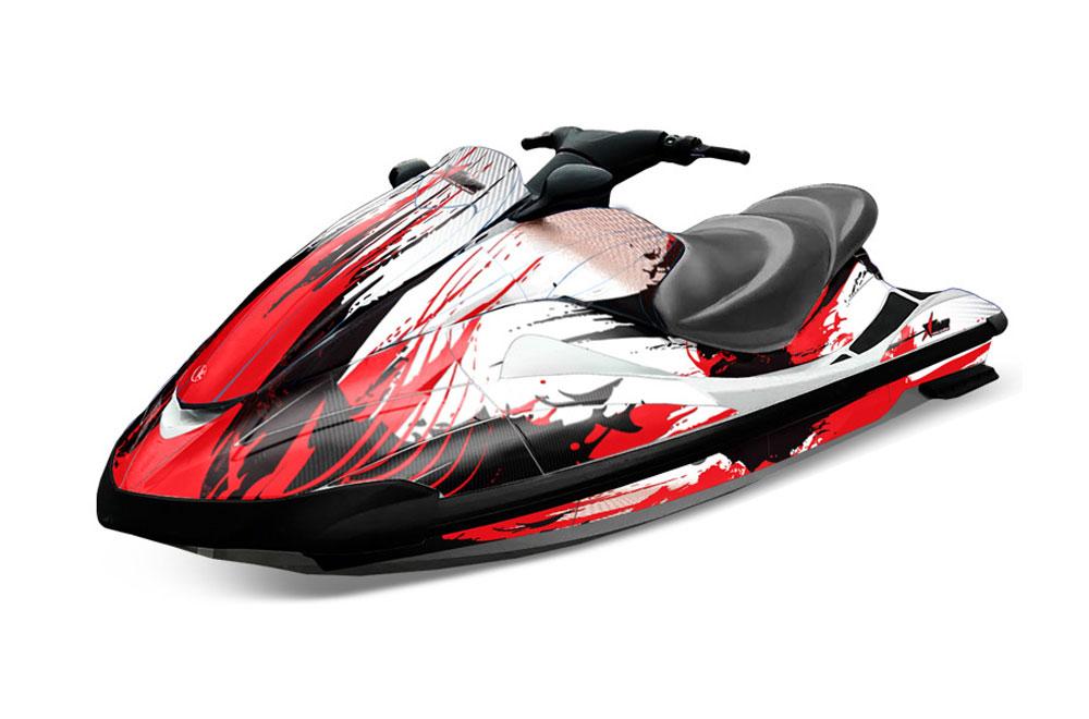yamaha wave runner graphics carbon x red jet ski pwc. Black Bedroom Furniture Sets. Home Design Ideas
