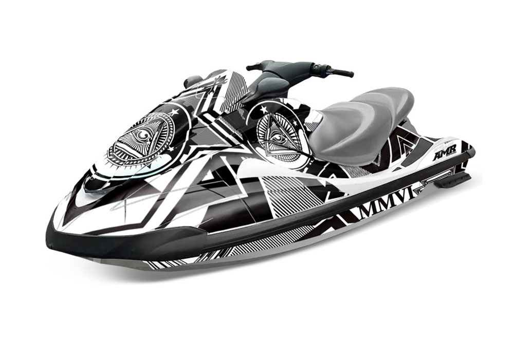 Yamaha wave runner graphics conspiracy white jet ski for Yamaha wave runner price