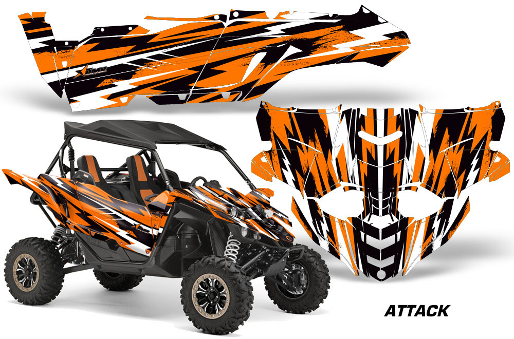 Yamaha yxz 1000r utv graphics attack orange side by for 2017 yamaha yxz1000r turbo