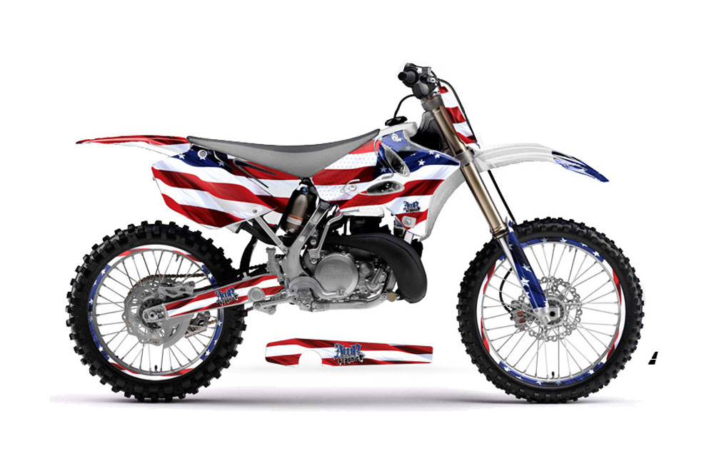 Yamaha yz250 2 stroke dirt bike graphics stars and for Yamaha yz250 2 stroke