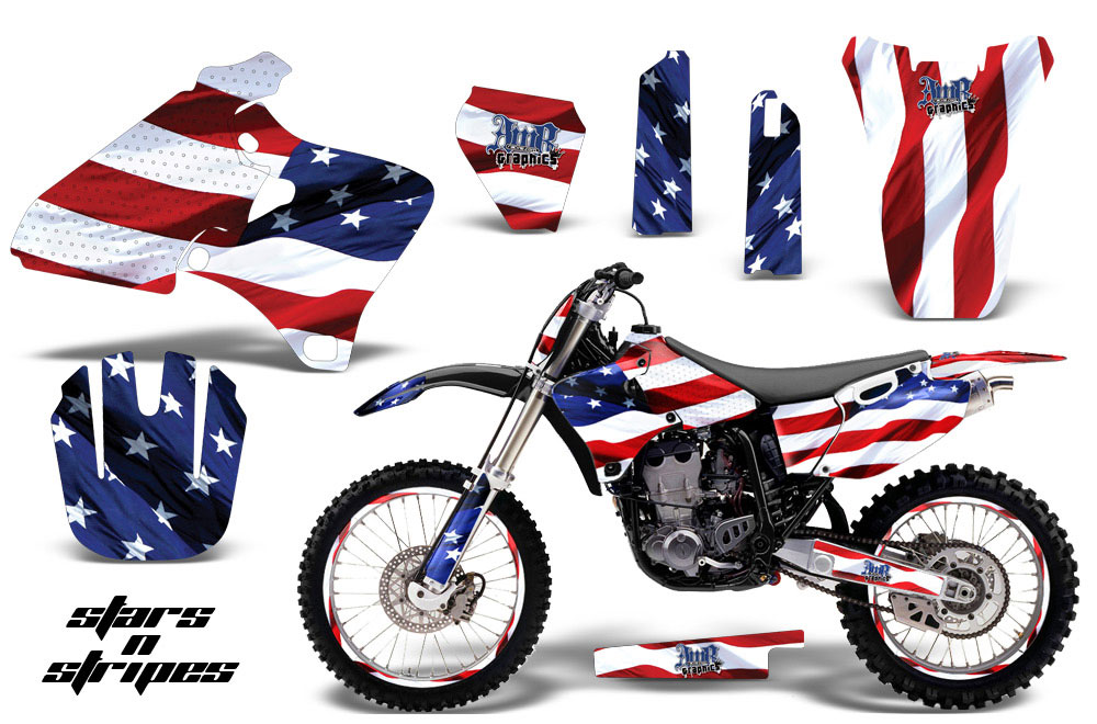Yamaha YZ250 4 Stroke Dirt Bike Graphic Kit - 1998-2002 Stars and Stripes Red White & Blue
