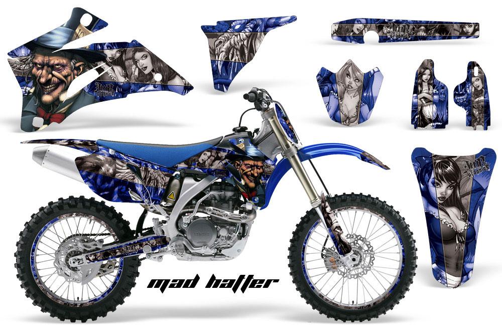 Yamaha YZ250F / YZ450F Dirt Bike Graphic Kit - 2006-2009 Mad Hatter Blue